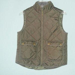 Altar'd State Olive Green Wool Blend Puffer Vest